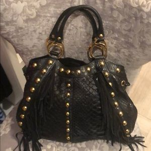 Beautiful black python Gucci bag